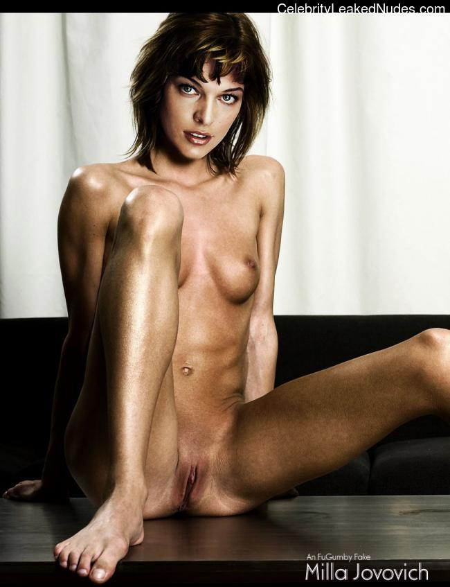 Milla Jovovich naked celebrities